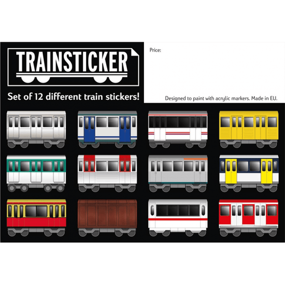 Under Pressure Train Sticker - Set of 12