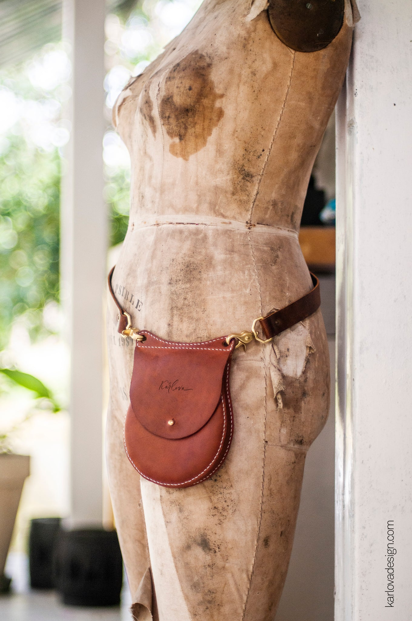 Leather Round Little Bag PDF Pattern