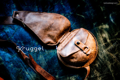 Kruggel Leather Travel Sling, Chest Bag PDF Pattern