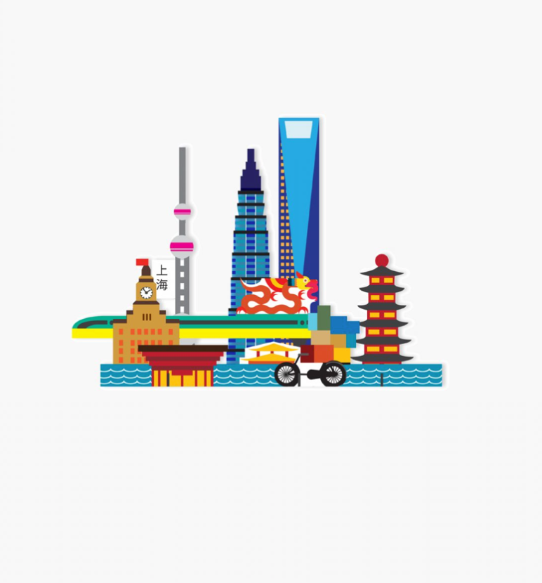 3D-Puzzle, City of Shanghai