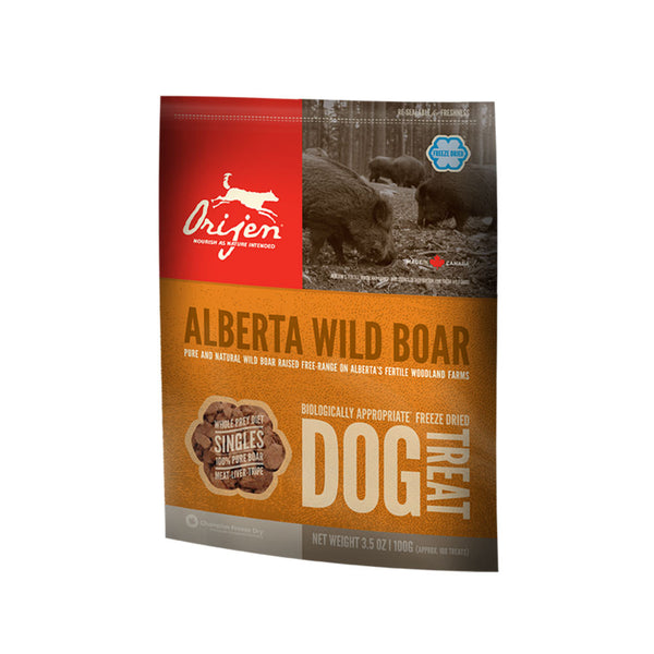 Orijen:  Dog Treats Alberta Wild Boar 42.5g