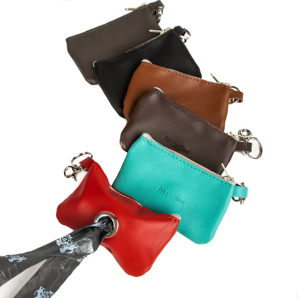 Poo Bags Holder : Soft Leather