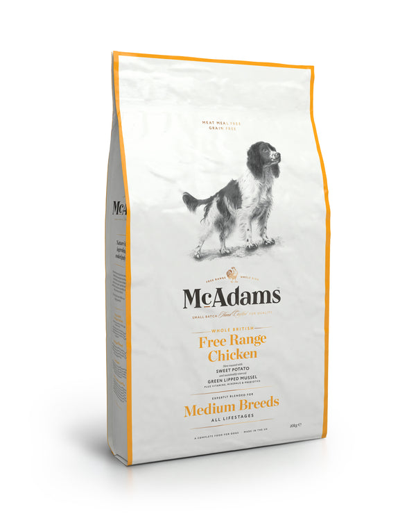 McAdams Free Range Chicken Medium Breed 10kg