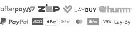 Milk Tooth offers Afterpay, PayPal, zipPay, zip, Humm, Laybuy, Credit, Debit, traditional Lay-By, Google Pay, Apple Pay and $9.95 flat-rate shipping or FREE SHIPPING for orders over $150 in Australia.