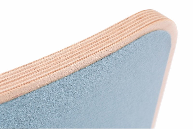 Close Up of Sky Blue Felt on Wobbel Board Originall