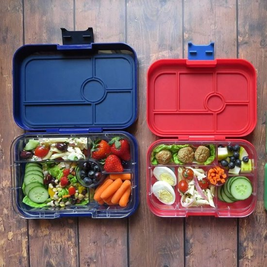 Lunch boxes and bamboo plates for kids at Milk Tooth. Yumbox-Tapas-Original-Panino-Minisnack-Bento-Lunch-Box