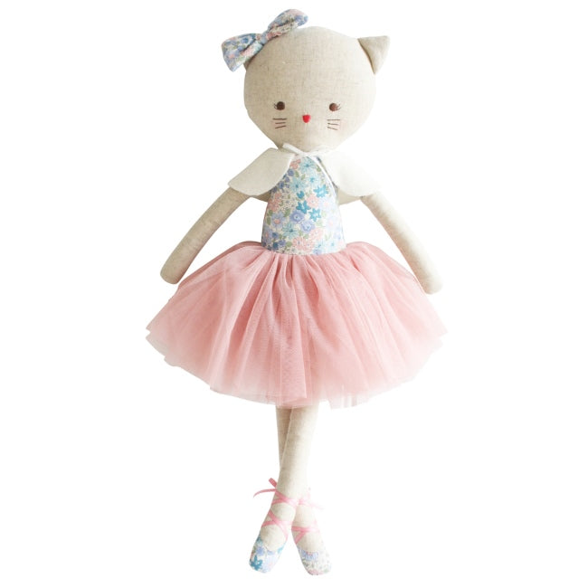 Alimrose | Adeleine Kitty Cat Doll | Liberty Blue 48cm