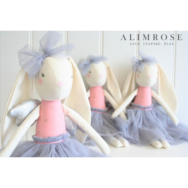 Alimrose | Soft Toy | Angel Bunny Silver