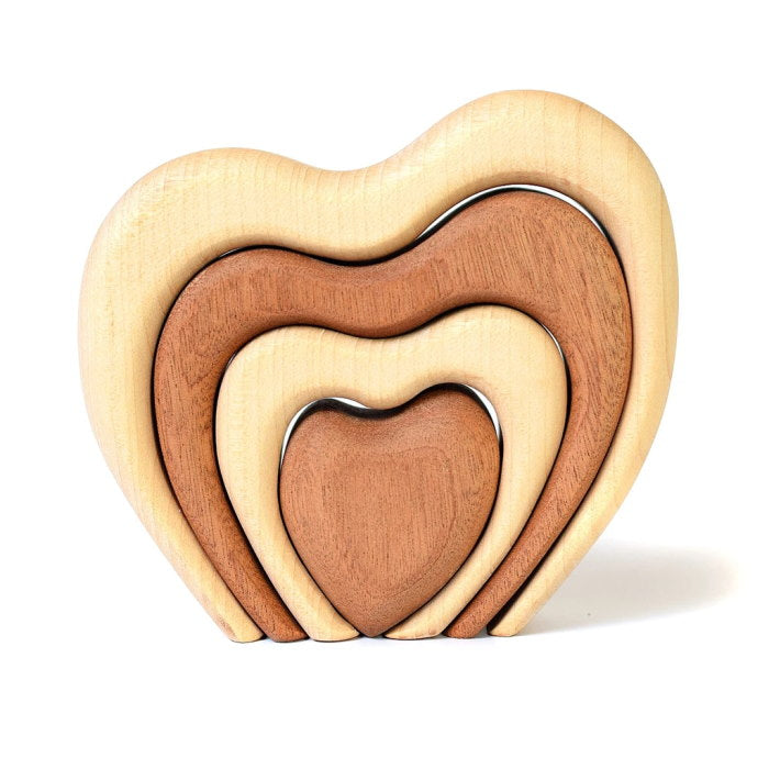 Bumbu | Wooden Stacked Heart