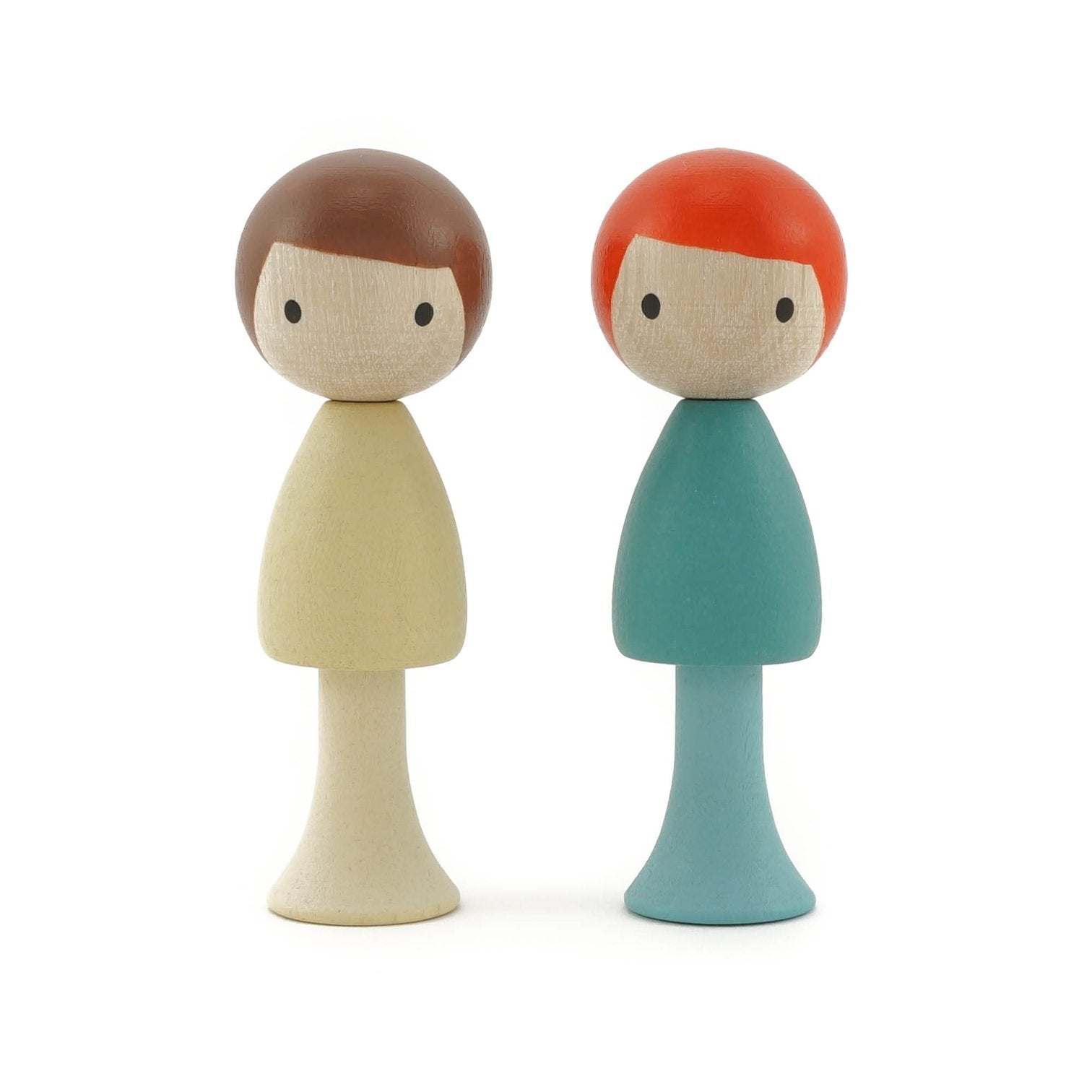 CLiCQUES | Magnetic Wooden Toys | Max & Emil cream & aqua boys