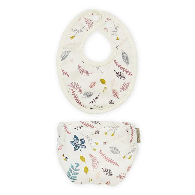 Cam Cam Copenhagen | Doll's Bib & Diaper / Nappy Set | Pressed Leaves Rose