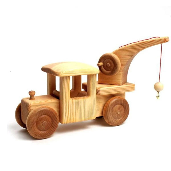 Debresk | Big Tow Truck with Crane | Towing Lorry Wooden Toy