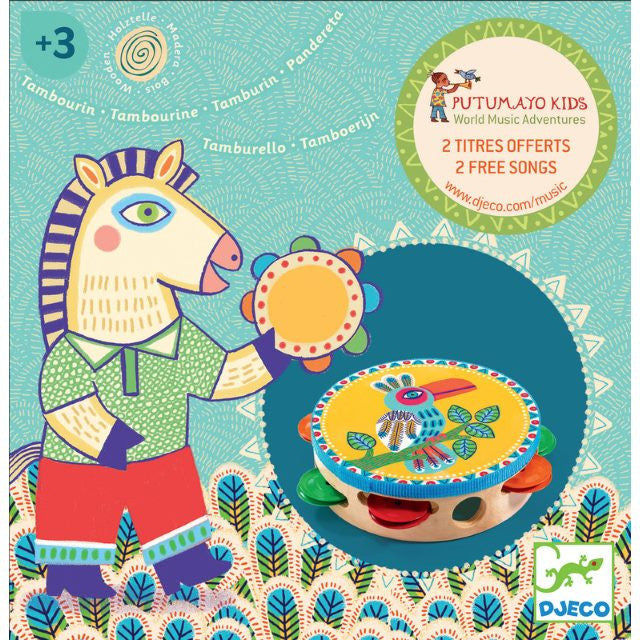 Djeco | Animambo Musical Instrument | Tambourine | Milk Tooth