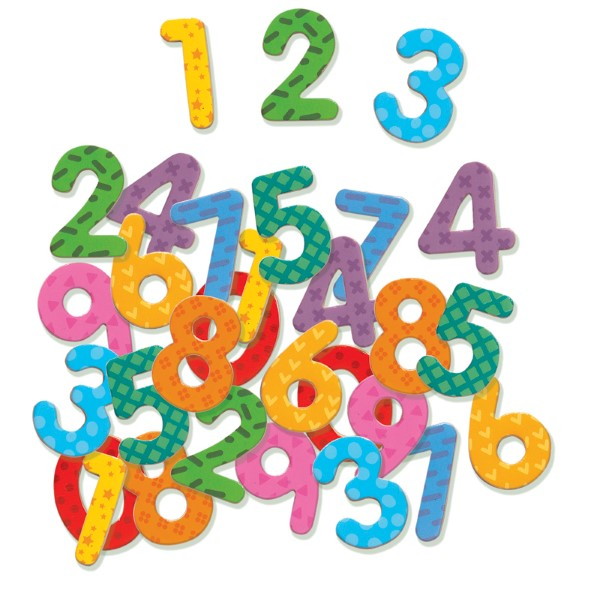Djeco | Magnetics 38 Pieces | Numbers | Wooden Fridge Magnets