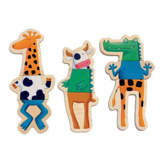 Djeco | Magnetics 24 Pieces | Crazy Animals
