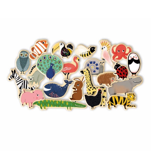 Djeco Magnetics | Magnimo Animals | Wooden Magnets