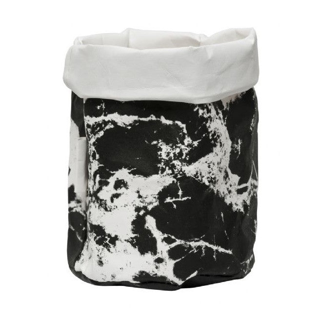 General Eclectic | Paper Storage Bag | Small | Marble Black & White