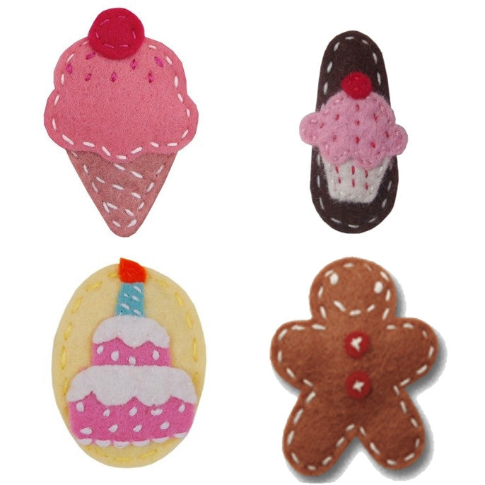 Giddy Giddy hair clip - icecream, cupcake, gingerbread or cake