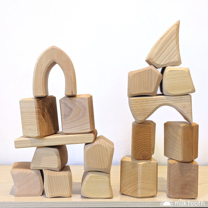 Gluckskafer | Big Blocks | 17 Pieces | Natural | chunky giant blocks
