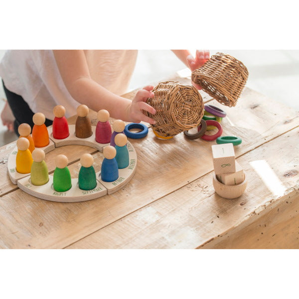 Grapat | 12 RIngs for Calendar | Wooden Toys