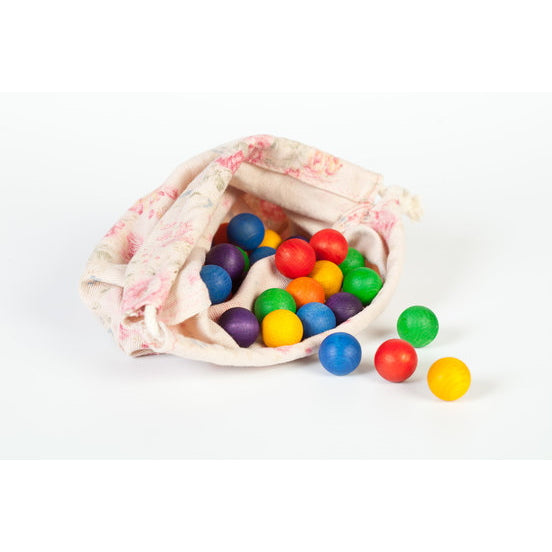 Grapat | Coloured Wooden Marbles 36 Pieces