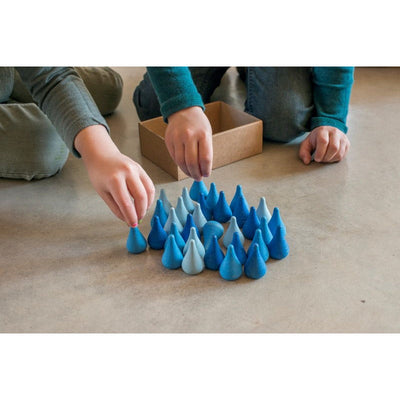 Grapat | Mandala | Blue Raindrops 36 Pieces wooden toy pieces