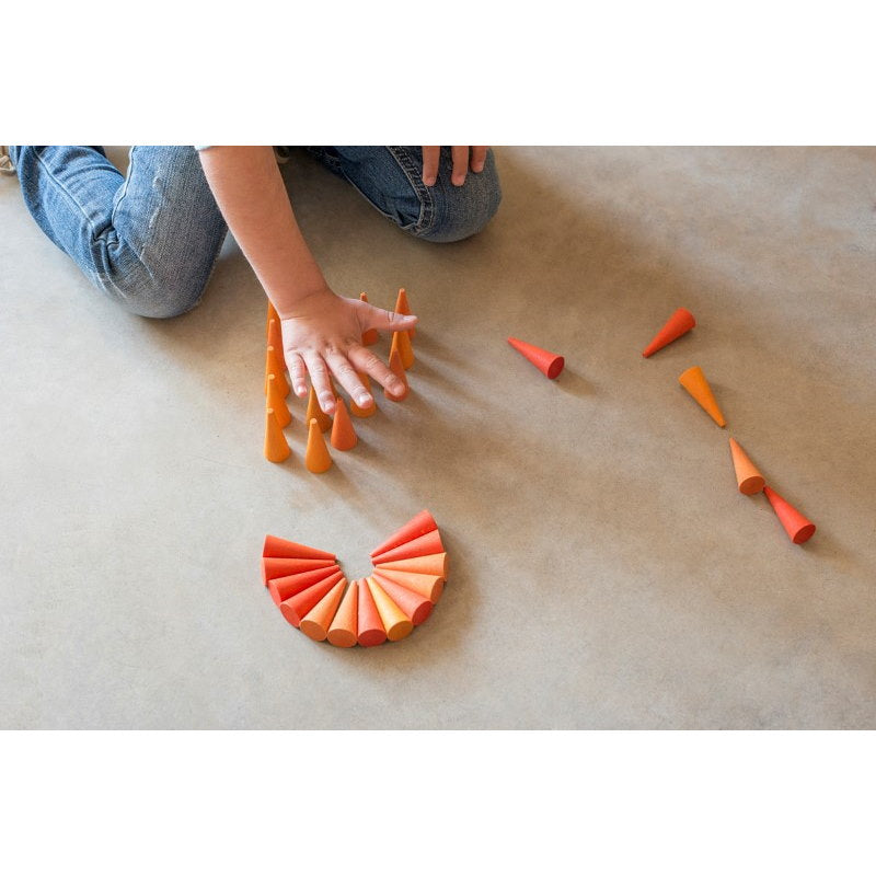 Grapat | Mandala | Orange Cones 36 Pieces