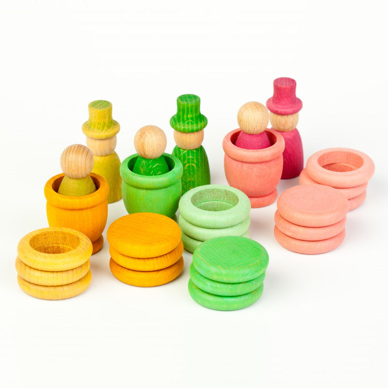 Grapat | Seasons | Spring | Wooden Toys with Nins Rings Coins