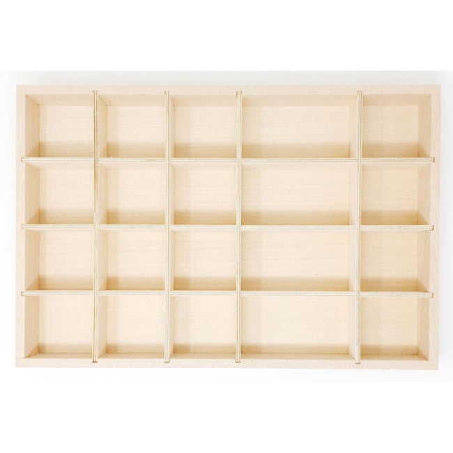Grapat | Tinker Tray | Timber Toy Storage Tray with Sections
