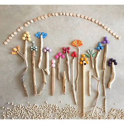 Grapat Mandala floral sculpture creation artwork wooden toys