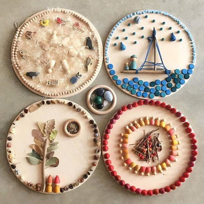 Grapat Mandala sculpture creation artwork wooden toys