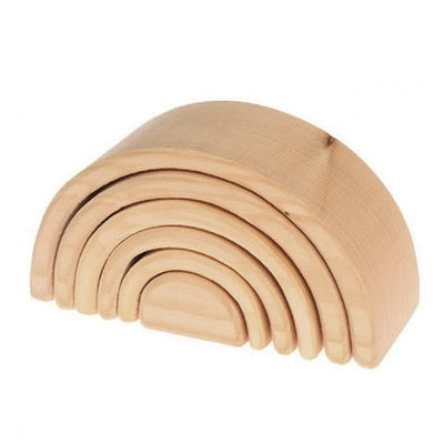 Grimm's | Wooden Rainbow Stacking Toy | Medium | Natural