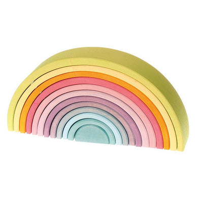 Grimm's Pastel Rainbow Wooden Stacking Toy