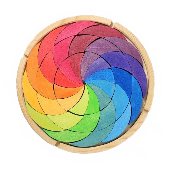 Grimm's | Building Set | Colour Wheel | Rainbow Wooden Blocks