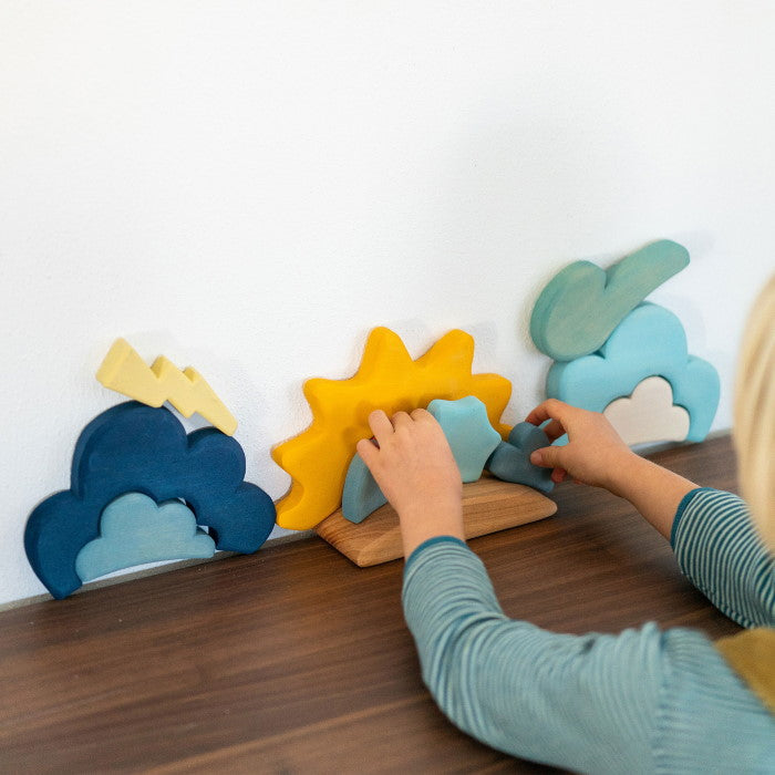 Grimm's | Building Set | Weather | Wooden Toy