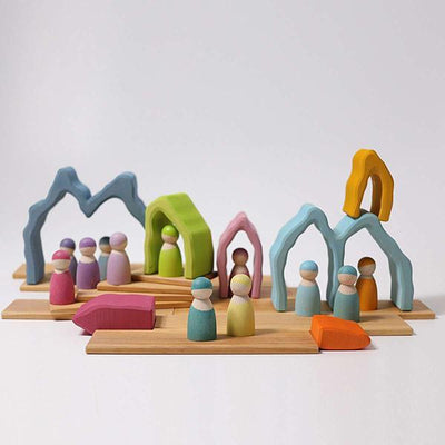 Grimm's | Coral Arch Stacker | Wooden Toy