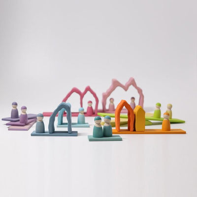 Grimm's | Coral Reef Stacker | Wooden Stacking Toy