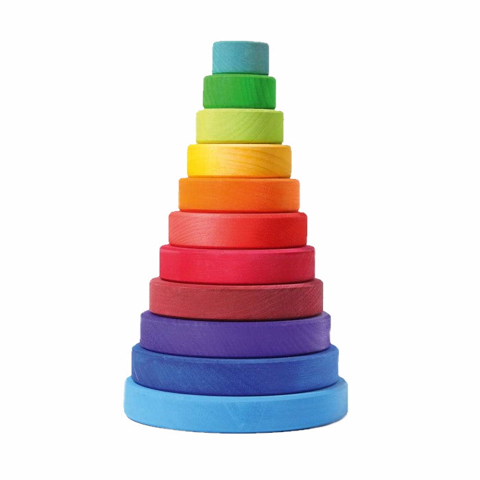 Grimm's | Large Conical Stacking Tower | Rainbow