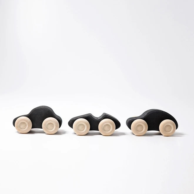 Grimm's | Monochrome Wooden Cars | 3 Pieces