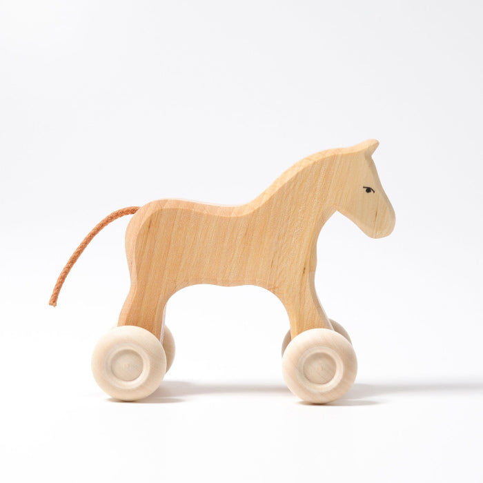 Grimm's | Pony on Wheels | Filou | Small Horse Wooden Toy