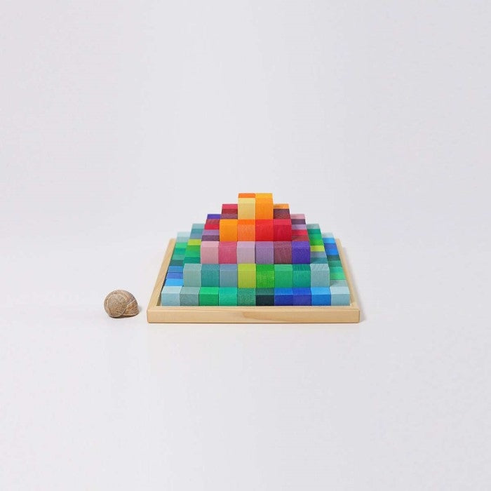 Grimm's | Stepped Pyramid | Small | Rainbow Building Blocks