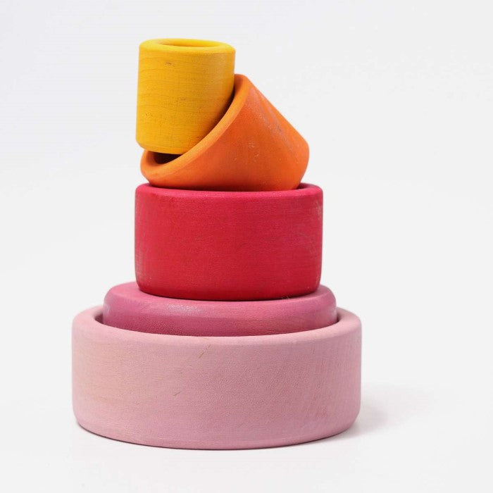 Grimm's | Coloured Stacking Bowls | Lollipop