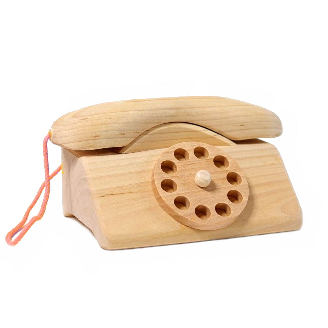 Grimm's | Wooden Telephone Toy Natural