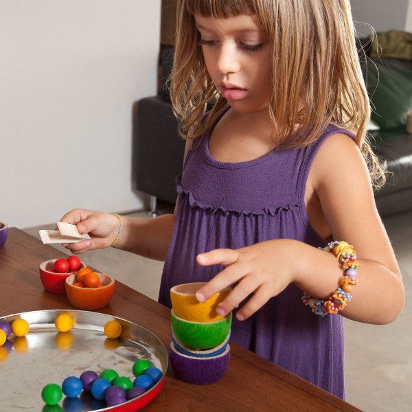 Grapat | Bowls and Marbles | Wooden Toys