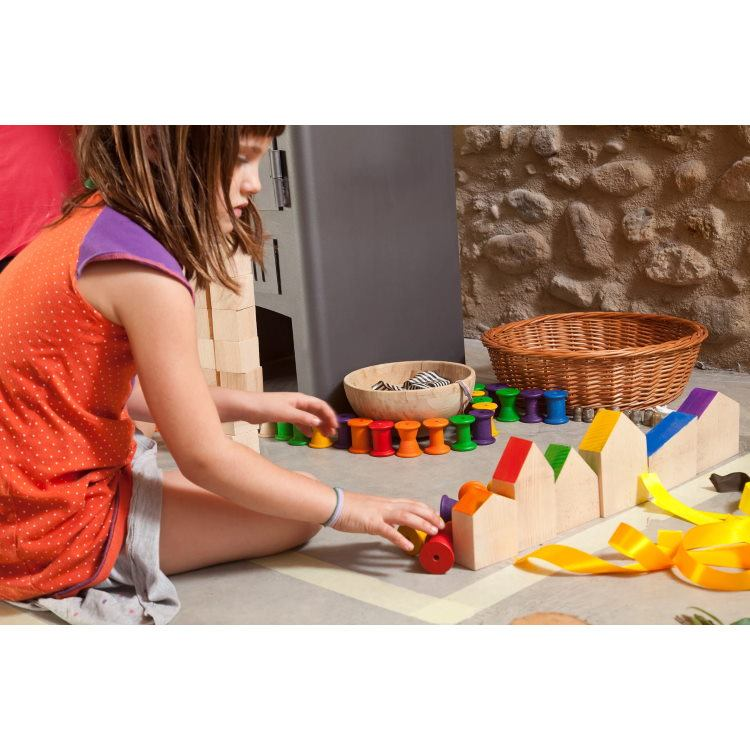 Grapat | 6 Houses | Wooden Toys