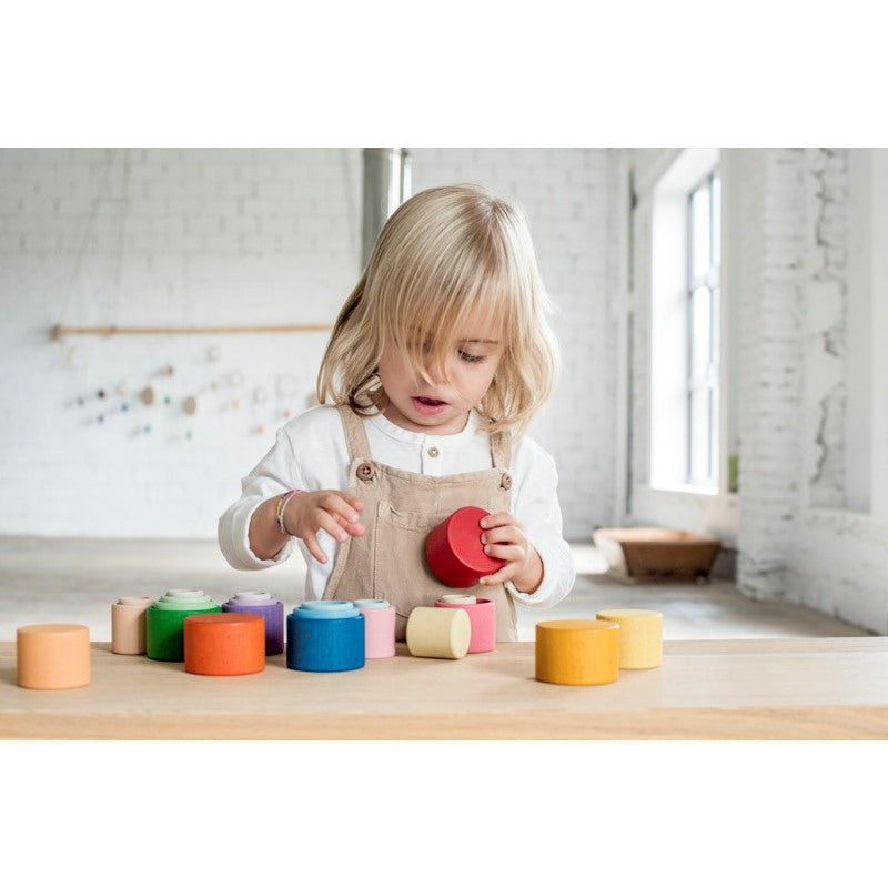 Grapat | Nest Bowls | 24 Pieces | Wooden Nesting Toys