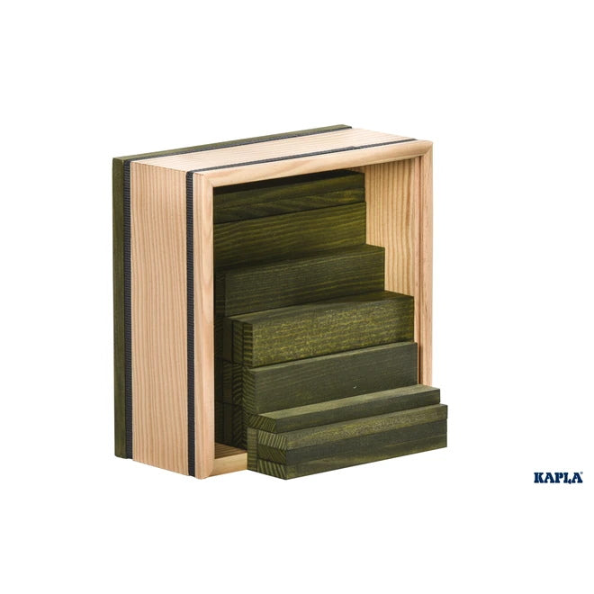 KAPLA | Wooden Building Planks | 40 Squares | Green