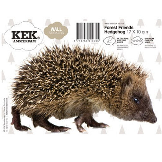Hedgehog wall sticker kek amsterdam forest friends wall decal how it arrives to you