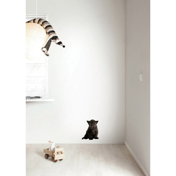 Black panther cub wall sticker - KEK Amsterdam Safari Friends animal wall decal