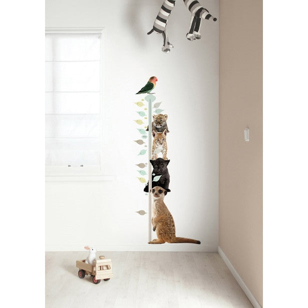 Growth chart animal wall sticker set - KEK Amsterdam Safari Friends